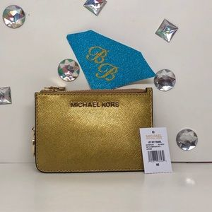 MICHAEL KORS💎JET SET TRAVEL KEYCHAIN COIN WALLET